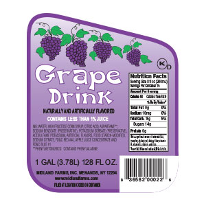 Grape Drink - Gallon