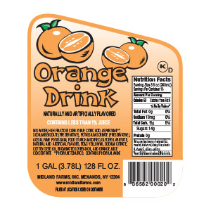 Orange Drink - Gallon